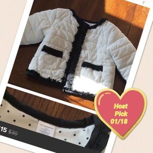Other - Adorable black and white coat with polka dots